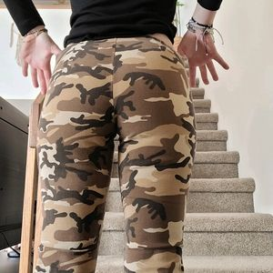 Vintage Y2K Low Rise Camo Bell Bottoms